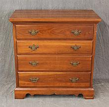 Harden, Small Chest of Drawers, Cherry, Four Graduated Drawers on Shaped Bracket Feet, (Good Condition), 33