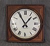 The Standard Electric Time Co, Dial Clock, Oak, 23