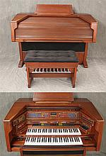 2005 Lowrey Electric Celebration Organ with Music Compartment Stool, Serial Number X500-104D6-88450, Has Various Orchestral and Solo...