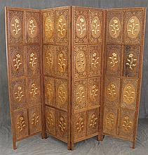 Four Leaf Screen with Floral Design, 72
