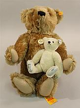 PAIR OF MINT TAGGED STEIFF MOHAIR BEARS - 19