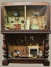 19th CENTURY DOLL HOUSE, FULLY APPOINTED, 39