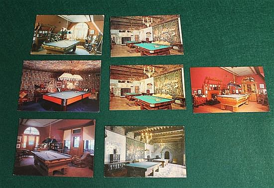 Lot of 6 pc. Modern postcards of San Simeon, Graceland, Mark Twain House.
