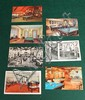 Lot of 7 pc. Misc. pool/billiard postcards of military and room interiors.