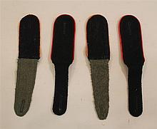 Lot of German WW II shoulder boards. Lot includes a pair of Waffen SS EM slip-on style shoulder boards with black face brown-green b...