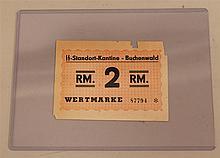 German WW II Buchenwald KZ currency. Bill is marked
