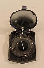German WW II compass. Lot consists of a standard German field compass made of black bakelite. Frequently issued to German Infantry.