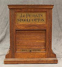 J&P Coats Spool Cotton Cabinet