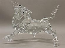Limited Edition 2004 Swarovski Crystal Bull with Case