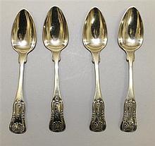 Four Coin Silver Teaspoons