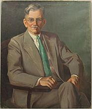 Herring, Frank Stanley, 1894-1966, Georgia/ New York, Portraif of a Gentleman. Oil on Canvas.