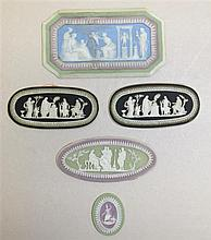 Five Wedgwood Multi-Color Jasperware Plaques, Circa Late 18th C. to Early 19th C.