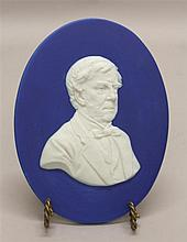 Wedgwood Jasperware Cobalt Blue Oval Portrait Medallion