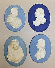 Four Wedgwood Oval Portrait Medallions, Circa Late 18th Century