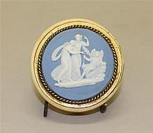 Wedgwood Circular Bone Trinket Box with Jasperware Cameo Insert