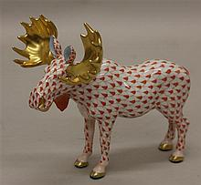 Herend First Edition Porcelain Moose