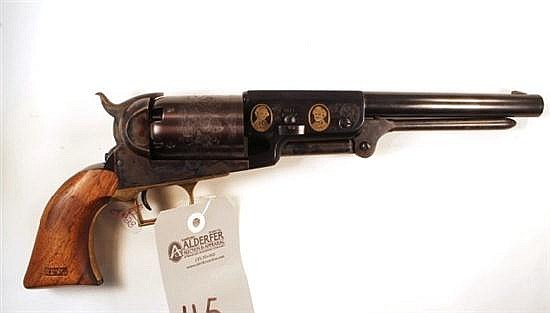 Colt Heritage Walker Commemorative C Company Dragoon reproduction percussion cap black powder revolver. Cal. 44. 9