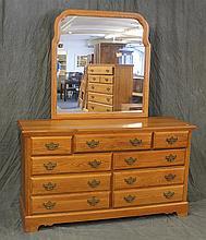 6 Piece Oak Bedroom Set by the Crawford Furniture Mfg Corp, (1) Dresser 34