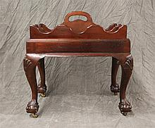 Mahogany Celerette with Detachable Caddy with Castor Ball and Claw Feet, Good Condition, 23