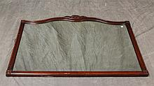 Carved Mahogany Mirror with Carved Crest, 35