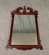 Carved Mahogany Mirror, 42 1/2
