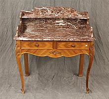 Louis XV Style Comode, 2 Door with a Marble Top, 46