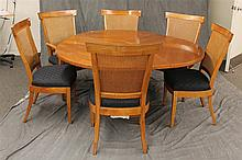7 Piece Dining Set, (1) Dining Room Table with Collapsable Leaves, 28 1/4