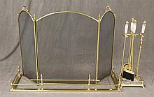 Fireplace Set, Brass, (1) Fender 9