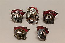 Soviet Train Related Badges