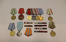 Soviet Medal and Ribbon Grouping