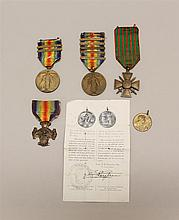 Grouping of WWI Medals