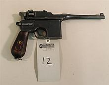 Mauser C96 Broomhandle semi-automatic pistol. Cal. 9 mm. 5-1/2