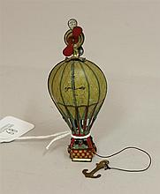 German Penny Toy Balloon, with anchor; propeller top, minor scratches, excellent condition, 4 1/4
