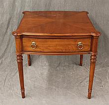 Lexington Home Brands, Waverly Collection, Side Table, Cherry, Single Drawer on Turned Tapered Legs, 26