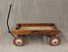 Hamilton Greyhound, Wagon, Wood Box, Red and White Painted Metal Wheels, 31