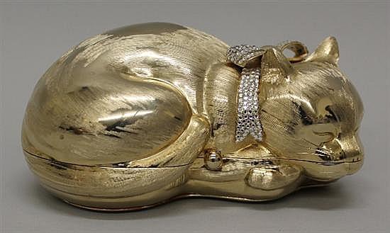 Judith Leiber Sleeping Kitten Minaudiere