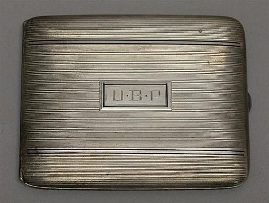 Elgin Sterling Silver Cigarette Case