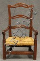 Mahogany Child's Ladder Back Arm Chair