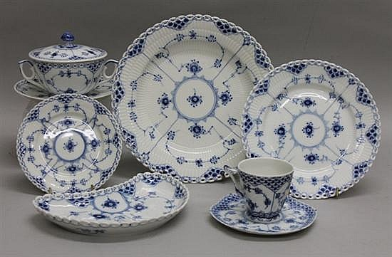 Royal Copenhagen Blue Fluted Full Lace Dinner Set - 94 pcs.