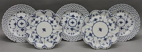 Royal Copenhagen Blue Fluted Lace Plates