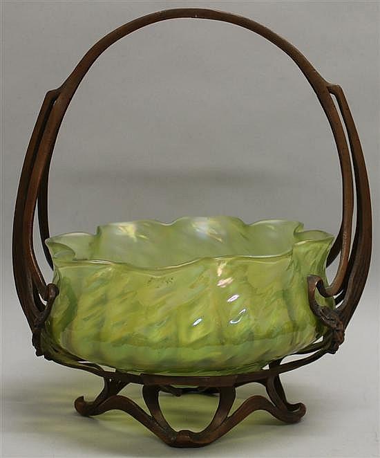 Loetz Style Bride's Basket