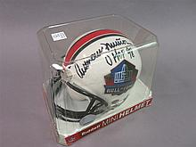 Anthony Munoz autographed Mini Helmet by Riddell.