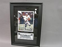 Ken Stabler autogrpahed photo tribute, Oakland Raiders.
