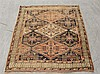 Ashfar Caucasian Mat, Diamond Medallion and Field, Cream Spandrel, (Thread Worn), 65