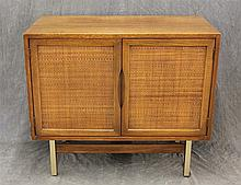 American Furniture of Martinsville, Mid-Century Modern Side Cabinet, Mahogany, Two Doors, 30