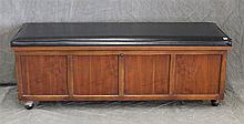 Lane Fruniture Virginia Maid, Blanket Chest, Pine, Black Leather Lid on Casters, 17