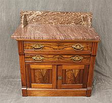 Victorian Marble Top Wash Stand, Walnut, 32