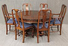 7 Piece Dining Room Suite, Mahogany (Minor Scratches) (1) Table 29 3/4