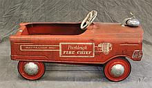 Murray, Parkleigh Fire Chief Pedal Car, Red Painted, (Oxidation and Wear), 16