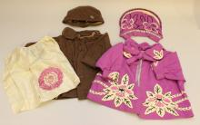 PAIR OF ANTIQUE (1920's-1930's?) CHILD'S WOOL COATS WITH MATCHING HATS TO FIT 28